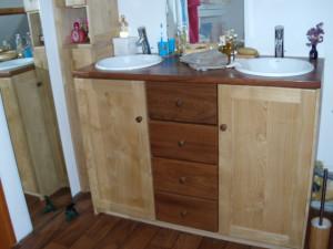 Meuble de salle de bain à 2 vasques